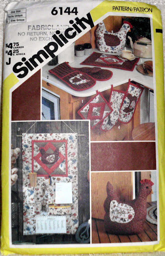 Kitchen Accessories Set Simplicity 6144 Pot Holders Oven Mitts Casserole Mitt