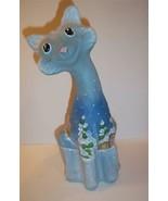 Fenton Glass CANDYLAND GINGERBREAD MAN Blue ALLEY CAT Ltd Ed GSE Kim Barley - $290.52
