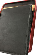 MEN'S LEVI'S PREMIUM CLASSIC LEATHER BLACK BIFOLD WALLET 31LV13A7 W/ DEFECT image 5