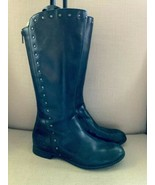 Born Larsen Amila Black Leather Studded Back Zip Riding Boots US 8 - $46.74