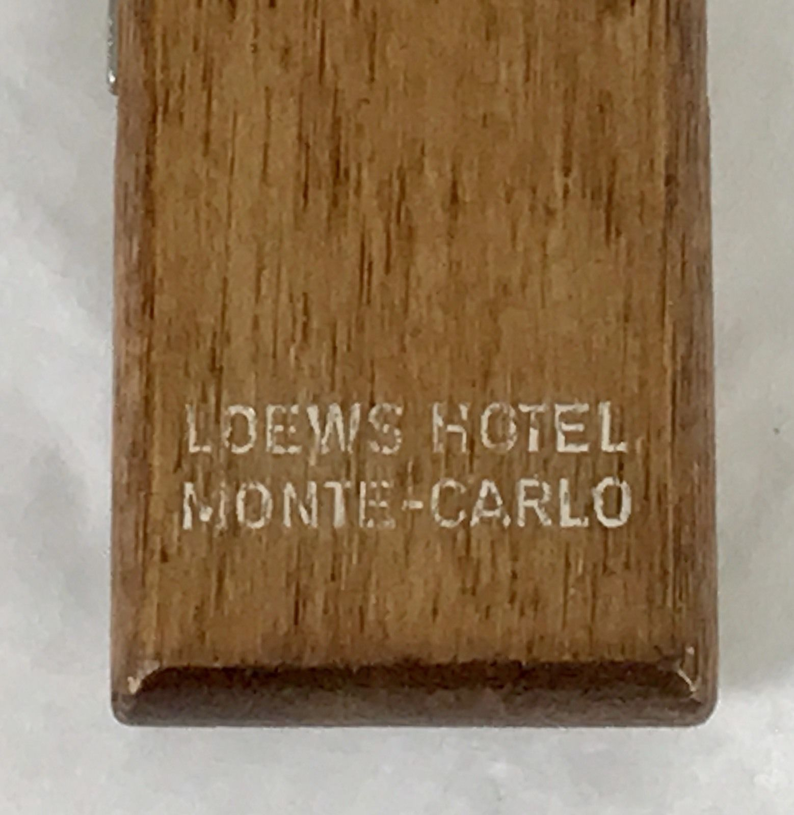 Vintage Loews Hotel Monte Carlo Casino French Riviera Bottle Opener MId Century