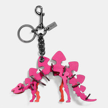 NWOT COACH STEGGY LEATHER BAG CHARM #56156 pink - $150.00