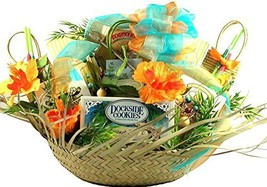 "5 O'clock Somewhere, Tropical Gift Basket - With 16"" Beachcomber Hat Filled with"