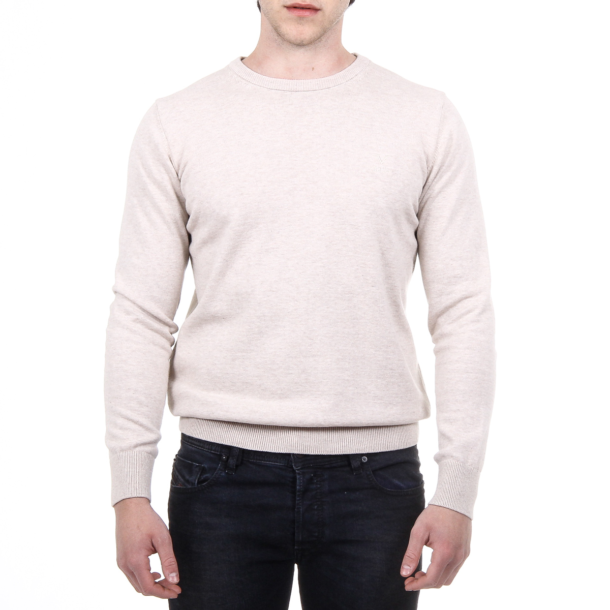 Primary image for V 1969 Italia Mens Sweater Long Sleeves Round Neck