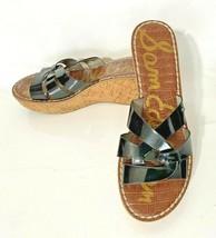 Sam Edelman Raynere Black/Brown Wedge Sandals - Size 8.5 M  - $17.99