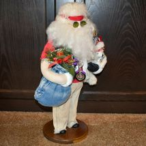 "Handcrafted ""Big Nick"" Biker Santa Claus Father Christmas Signed 24"" Cloth Doll image 4"