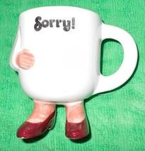 Sorry Cup Mug Arm Sling Fun Joke  Ceramic Arm in Cast - $12.19
