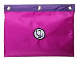 Case-It Pink Purple 3-Ring Binder Zipper Pen Pencil Marker case School Supplies image 2