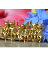 Edgar Berebi 6 Angels Cherubs In A Row Brooch Pin Limited Edition - $54.95