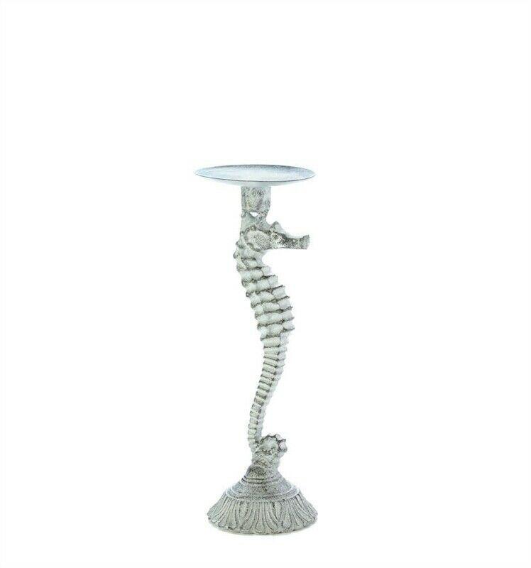 Skinny Seahorse Pillar Candle Holder