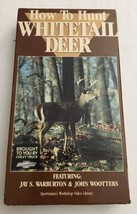 How To Hunt Whitetail Deer VHS #8969 by Jay S. Warburton-TESTED-RARE-SHI... - $11.52