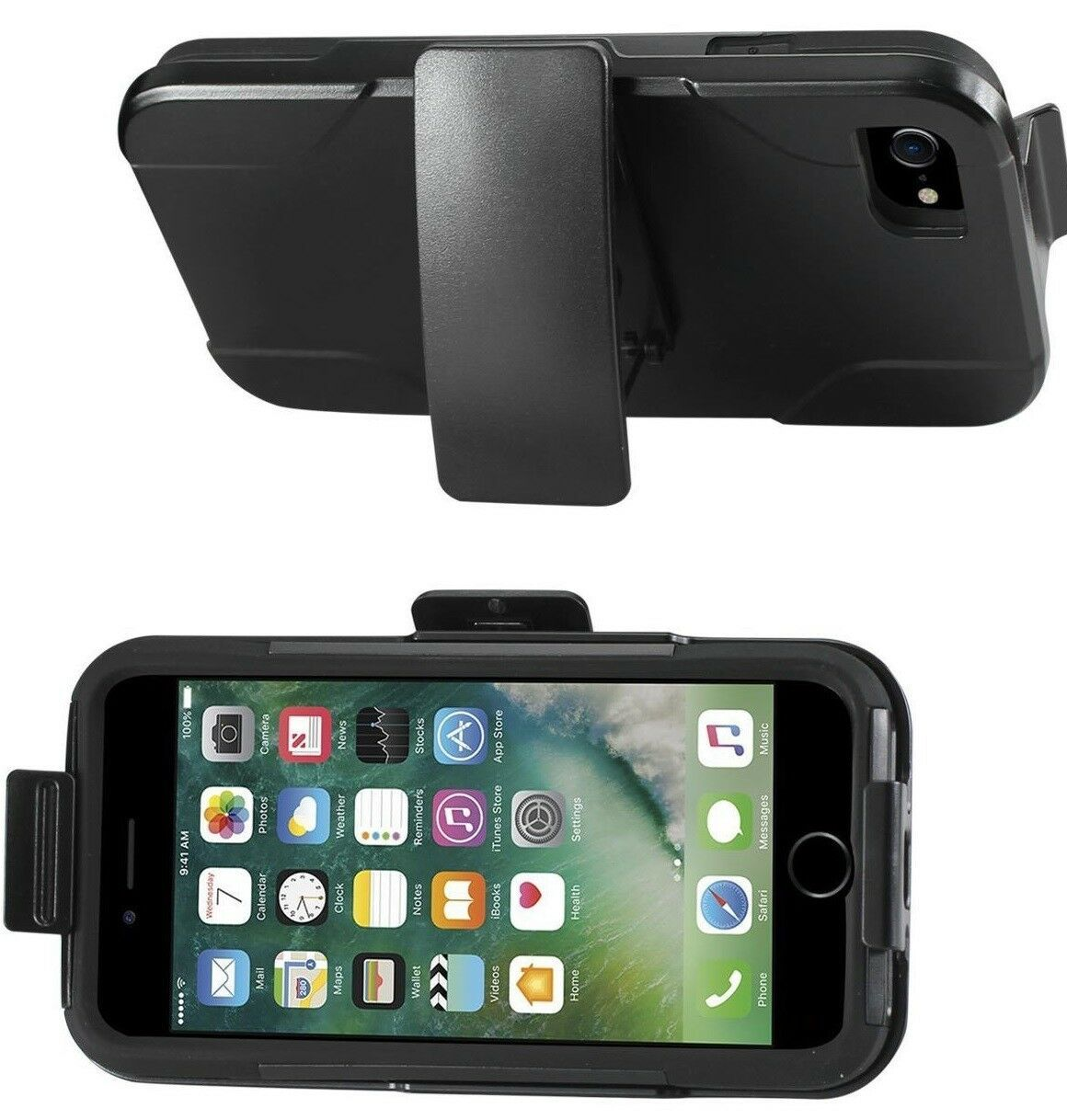 Reiko Iphone 7 Hybrid Case Heavy Duty Drop Proof Dual Protection Wireless Acces.