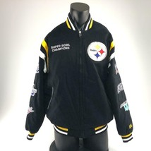 Pittsburgh Steelers six time super bowl champions patch jacket Large - $118.79