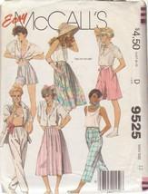 McCALL'S 1985 PATTERN 9525 SIZE 12 MISSES' SKIRT PANTS CULOTTES UNCUT - $3.90