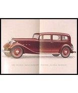 "1934 Lincoln V-12 Color Brochure, 136"" 145"" Sedan Limo, Xlnt with Envelope - $33.41"
