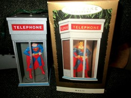 1995 DC Comics Keepsake Ornament Superman Telephone Booth Light & Motion... - $19.75