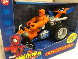 Marvel Spider-Man & Friends The Thing You Go- Cart Motorized Pull Back Go Action image 2