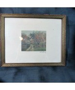 Framed Original Wallace Nutting Colored Photograph, Path Thru Apple Orchard - $30.84