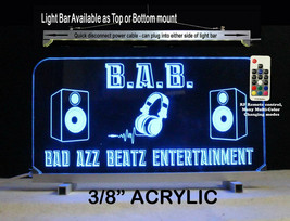 DJ Sign, Personalized Sign, LED, Man Cave Bar Sign - Lighted Sign - $96.03+