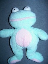 "Plush FROG  9"" Ty PLUFFIE Brand Pastel Green Pink Color - $9.89"
