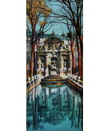 PARIS in 1900s Beautiful Chromotype Photo - Fountain Fontaine Medicis - $25.20