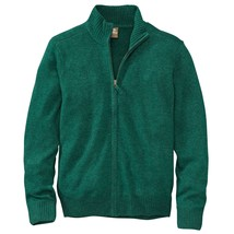 Timberland Men's Essential Wool Blend Full Zip Green Winter Sweater Jack... - $49.99