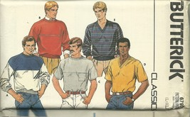 Butterick Sewing Pattern 6797 Mens T-Shirt Top ... - $12.99