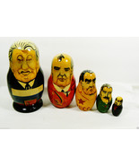 VTG Past Russian Soviet Political Leaders Nesting Doll Matryoshka 5 pc s... - $51.48