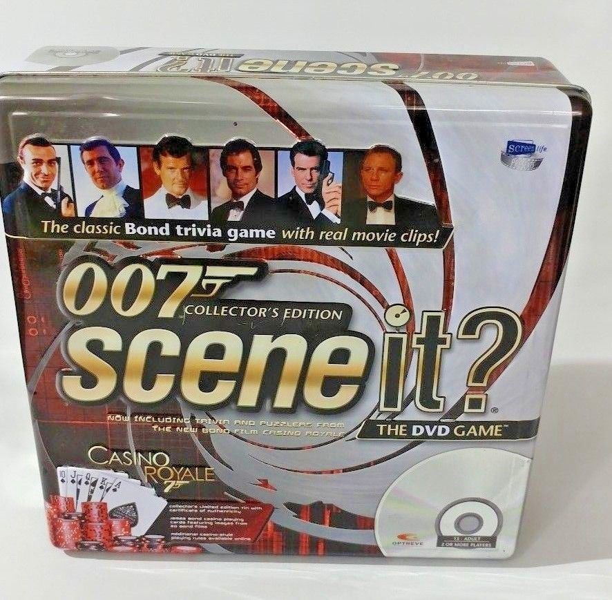 Primary image for Scene It? 007 Collector's Edition Tin Case James Bond Casino Royale DVD Game