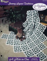 A Hole In One TNS Afghan Granny Squares Crochet Pattern/Instructions NEW RARE - $4.47