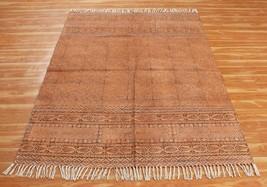 Bohemain 7x7 ft Area Rug Handmade Cotton Dhurrie Hand Block printed Indi... - $40.92+
