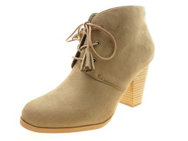 Journee Collection Women's Wen Boote, Taupe Suede, Size 8.5 B(M) US - $44.34