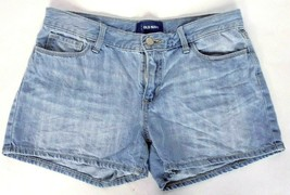 Old Navy Women's Booty Jean Shorts Size 12 Plus Blue Light Wash - $13.37