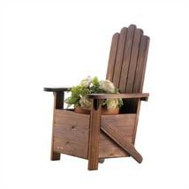 Brown Wood Adirondack Chair Planter - €22,69 EUR