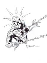 Alex Saviuk Original Marvel Comic Art Sketch ~ The Amazing Spiderman - $183.14