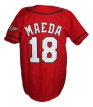Kenta Maeda Hiroshima Carp Baseball Jersey Button Down Red Any Size image 2