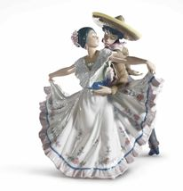 Lladro Porcelain MEXICAN DANCERS Gloss 01005415 Brand New in Box 5415 - $1,800.00
