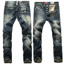 2018 Blue Jeans Men Straight Denim Jeans Trousers Plus Size 28-40 High Q... - $43.86