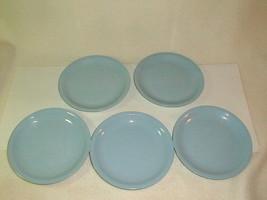 Mid century homer laughlin skytone cookie dessert plates 5 pcs VG blue 1950's - $35.00