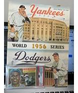 ORIGINAL 1956 WORLD SERIES PROGRAM IN EX CONDITION PLUS VG 3 JACKIE ROBI... - $420.75