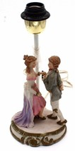 "Vintage Bisque Porcelain Figurine Table Lamp w/ Young Boy & Girl 13""H - $53.99"