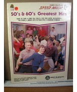 Easy-To-Play Speed Music #119 50' & 60's Greatest Hits 1983 - $8.99