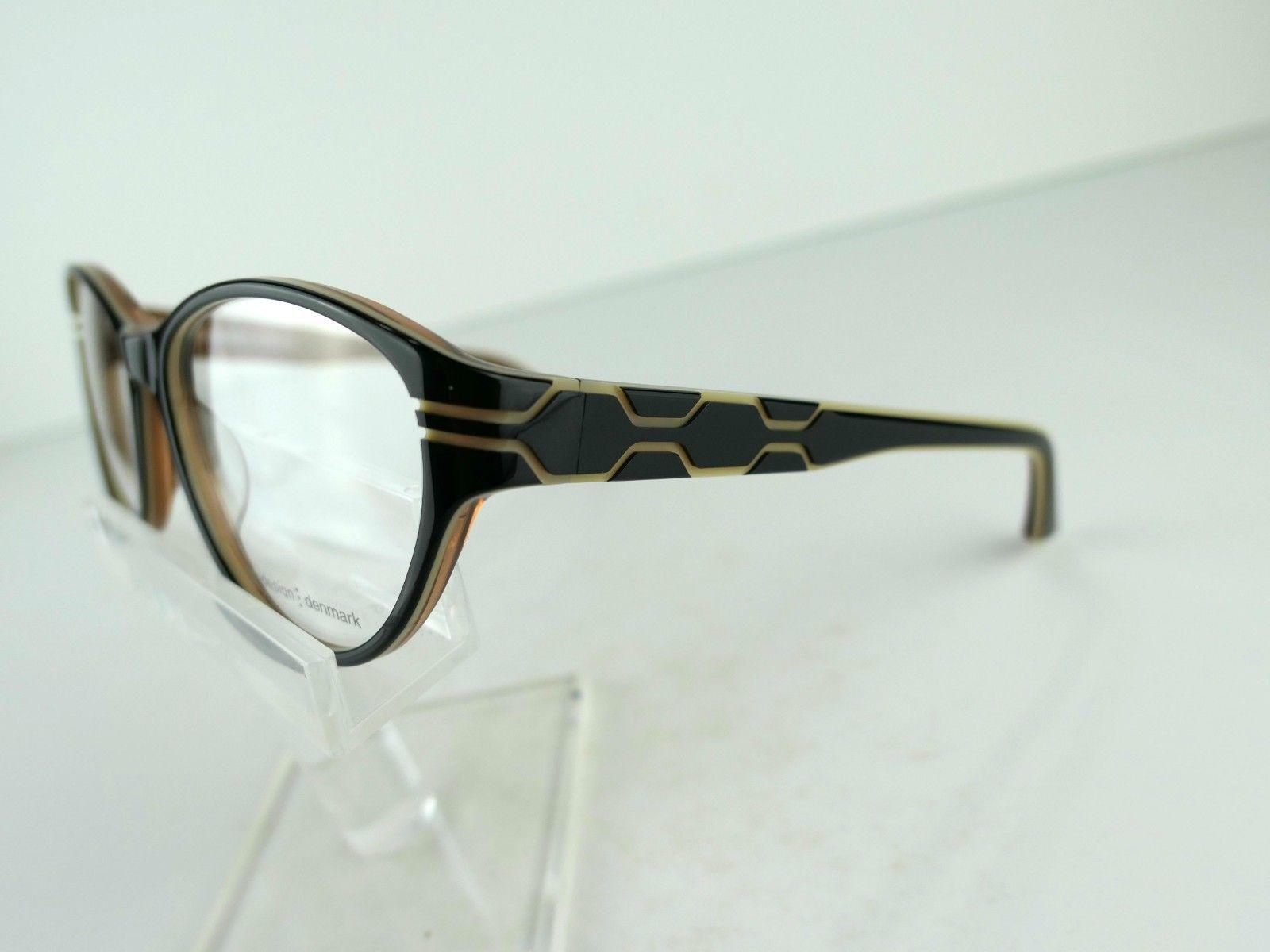 PRODESIGN DENMARK 1696 (6022) Black Shiny 55  x 16  Eyeglass Frames image 4