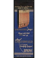 Vintage matchbook cover HOTEL CHESTERFIELD New York City picturing the o... - $8.99