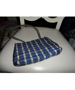 Vera Bradley Silk Blue Plaid Shoulder Bag Handbag - $11.00
