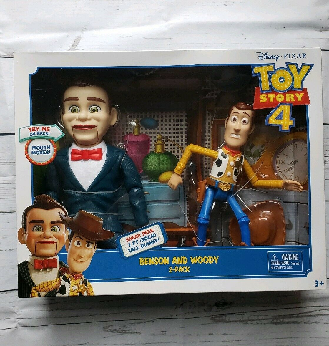Disney Pixar Toy Story 4 Benson and Woody 2 Pack - Rare Figures BRAND NEW