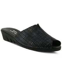 Spring Step Dejen Slide Sandal Navy Croco, Size 37 EU / 6.5 US - $49.49