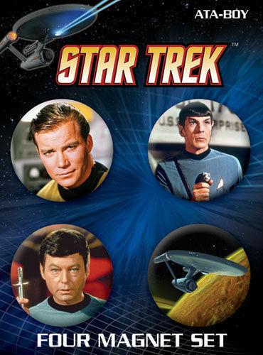 The Original Series Main Cast with Enterprise Magnet NEW UNUSED Star Trek