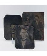 Three Antique Tin Type Photos - $18.70