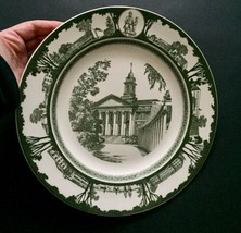 Vtg Wedgwood State University Of New York SUNY Plate Green White Collect... - $14.84